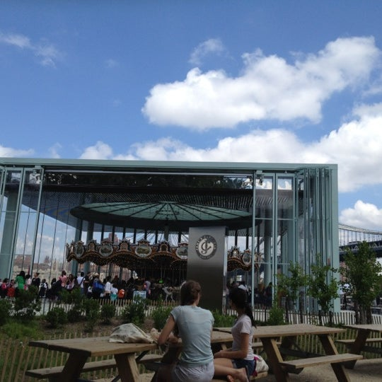 Photo taken at Jane's Carousel by Elizabeth O. on 6/14/2012