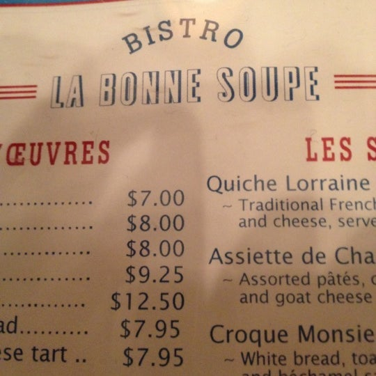 Photo taken at La Bonne Soupe by Félix M. on 2/18/2013