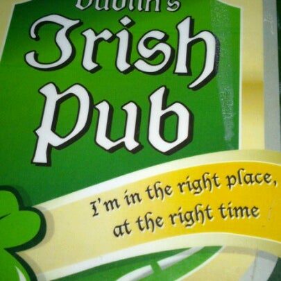 Photo taken at Dublin's Irish Pub by Saul S. on 11/8/2012