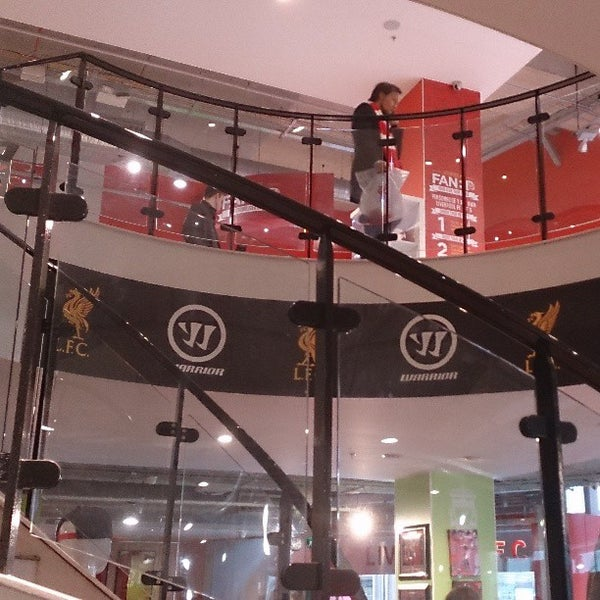 Photo taken at Liverpool FC Official Club Store by Caleb L. on 4/21/2013
