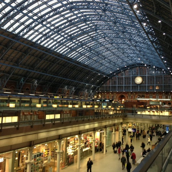 Photo taken at London St Pancras International Railway Station (STP) by Justin R. on 2/25/2013