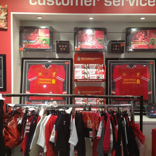 Photo taken at Liverpool FC Official Club Store by MOHAMMED A. on 12/6/2013