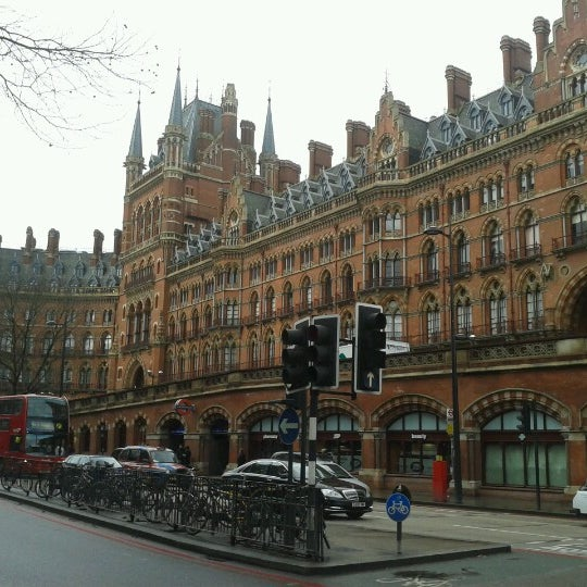 Photo taken at London St Pancras International Railway Station (STP) by Jaime F. on 2/14/2013
