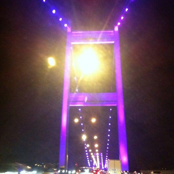 Photo taken at Fatih Sultan Mehmet Bridge by Emine Sümerya E. on 7/28/2013
