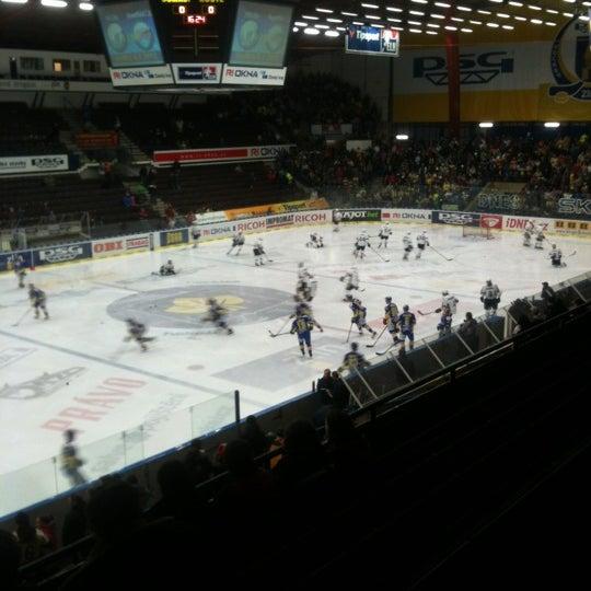 Photo taken at Zimní stadion Luďka Čajky by Roman S. on 12/30/2012