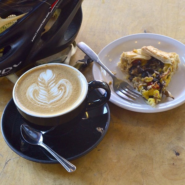 Photo taken at Crema Bakery and Cafe by Bill A. on 3/1/2015