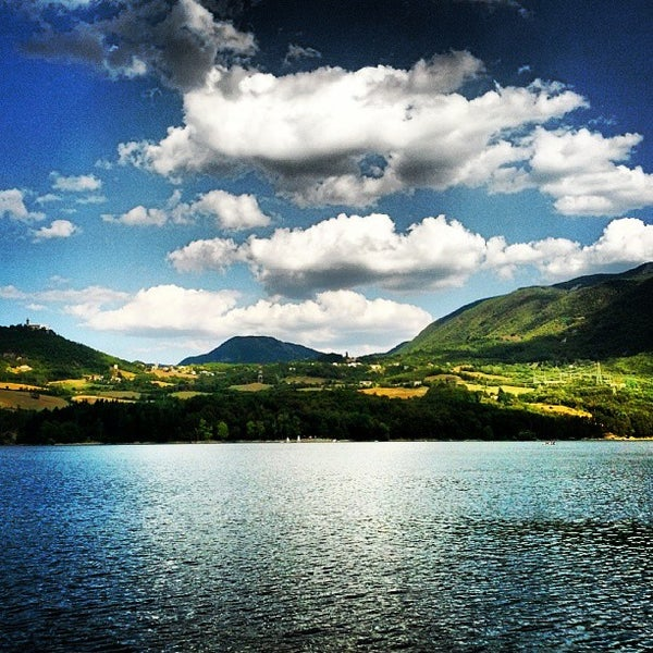 Photo taken at Lago di Suviana by Giorgio Picaro D. on 8/17/2013