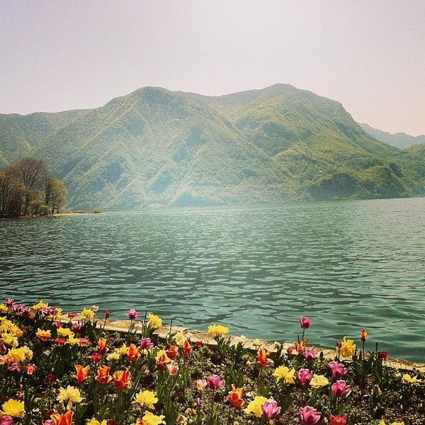 Photo taken at Lago di Lugano by Jana H. on 4/25/2013