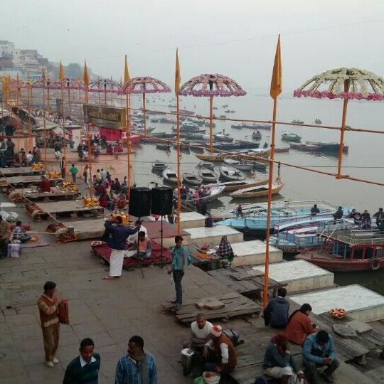 Photo taken at Dasaswamedh Ghat by Priyadarshi S. on 12/30/2015