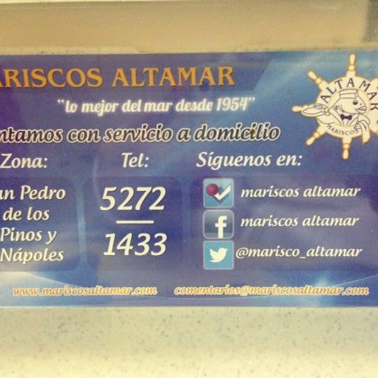Foto tomada en Mariscos Altamar por VeRo H. el 11/12/2012