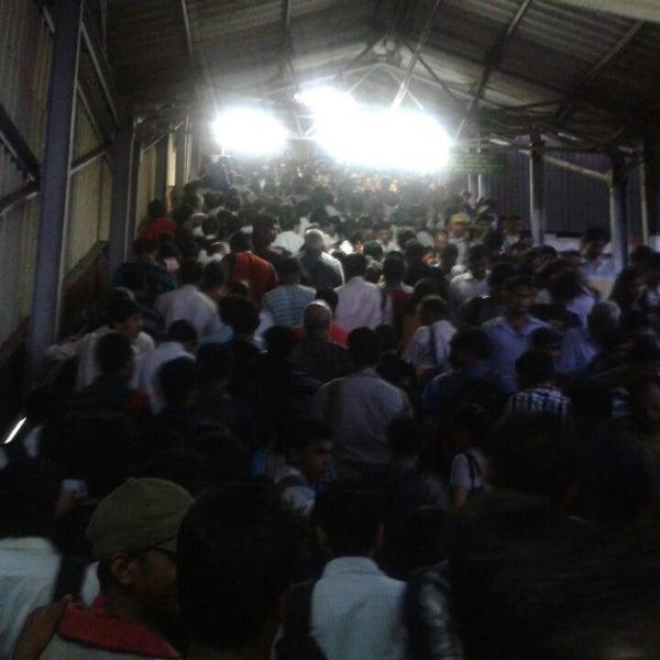 Photo taken at Dadar Railway Station by Raakhi K. on 6/28/2013