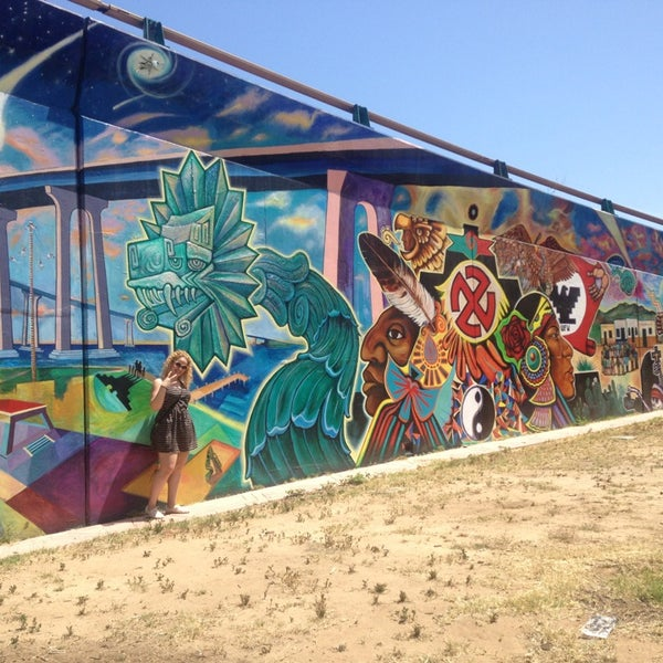 Photo taken at Chicano Park by Mel G. on 5/4/2014