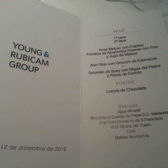 Foto tomada en M29 Restaurante Hotel Miguel Angel por Tabata B. el 12/12/2012