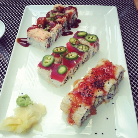 Photo taken at Blue Sushi Sake Grill by Christen on 9/21/2012