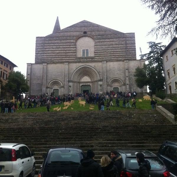 Photo taken at Basilica di San Fortunato by Federico C. on 1/4/2014