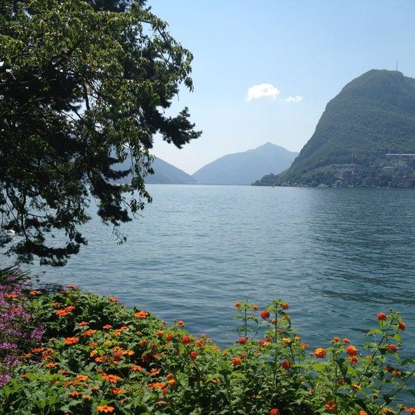 Photo taken at Lago di Lugano by Reinhard G. on 7/25/2013