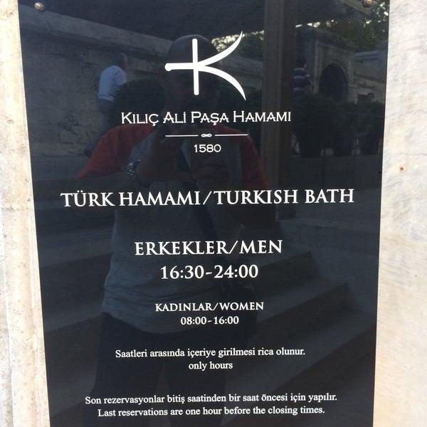 6/27/2017 tarihinde Ahmed S.ziyaretçi tarafından Kılıç Ali Paşa Hamamı'de çekilen fotoğraf