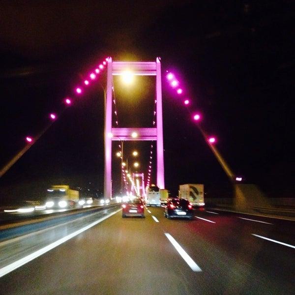 Photo taken at Fatih Sultan Mehmet Bridge by !!'Kursat ♻ U. on 10/20/2013