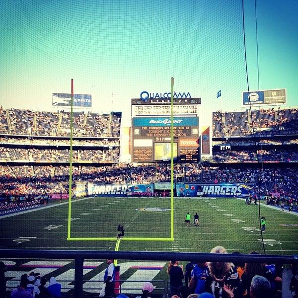 Photo taken at Qualcomm Stadium by Rob G. on 10/16/2012