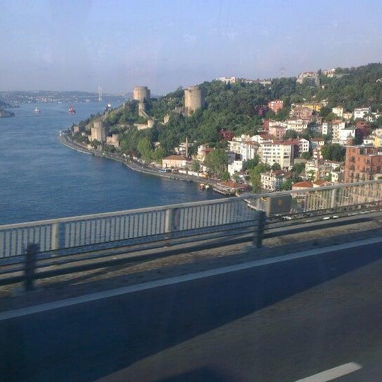 Photo taken at Fatih Sultan Mehmet Bridge by Şeref D. on 7/12/2013