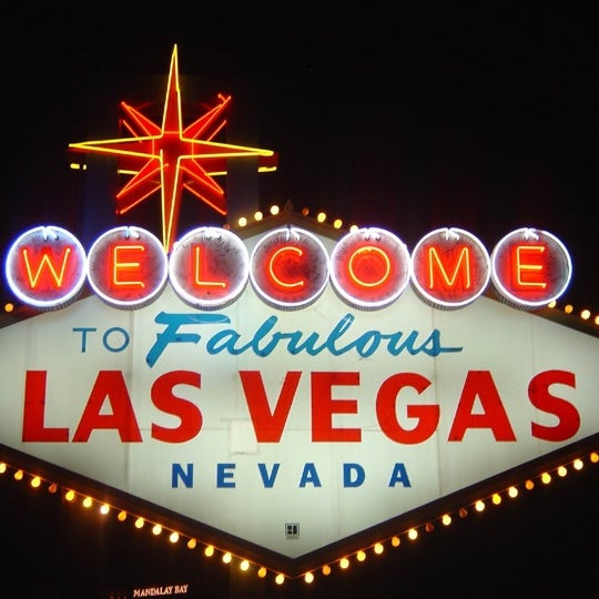Photo taken at Welcome To Fabulous Las Vegas Sign by Nasri A. on 10/18/2012