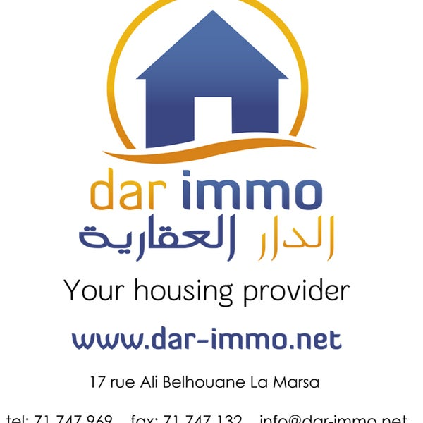 Dar immo agence immobili re la marsa real estate office for Agence immobiliere 75017