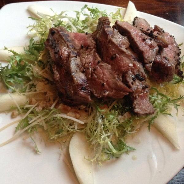 Get the Pair Frisée Salad.  It's sweet and delicious.  My mom and I both always get it when we come.