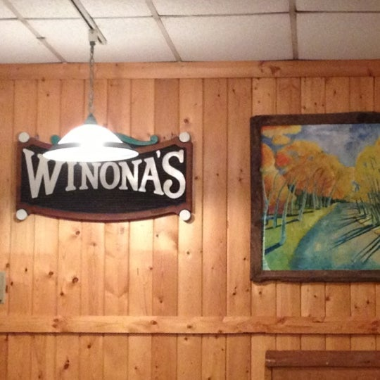 Photo taken at Winona's Restaurant by Julie A. on 12/1/2012