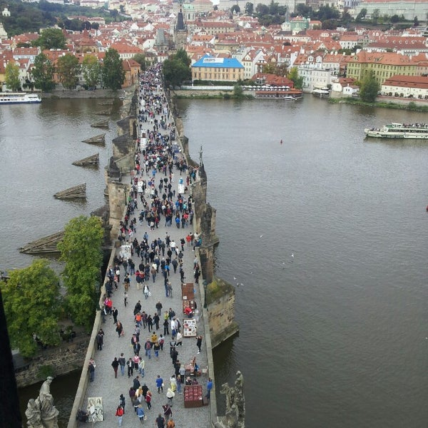 Photo taken at Charles Bridge by Юленька ♔ on 9/22/2013