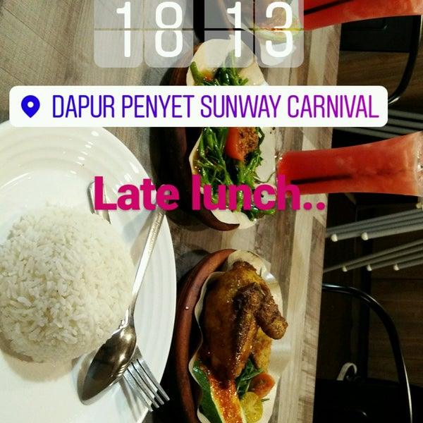 Photo Taken At Dapur Penyet Sunway Carnival By Amani S On 1 23