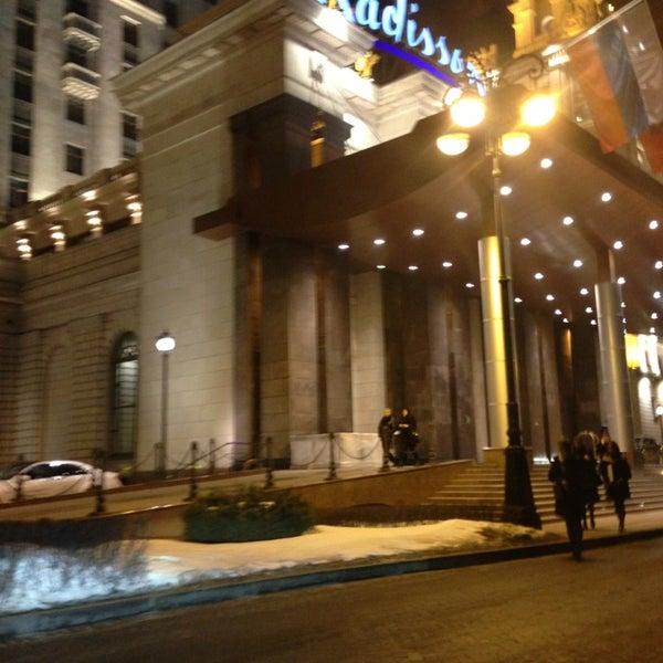 Photo taken at Radisson Royal Hotel by Danil A. on 3/29/2013