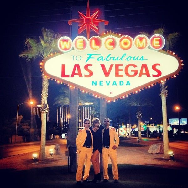Photo taken at Welcome To Fabulous Las Vegas Sign by Twins S. on 2/23/2013