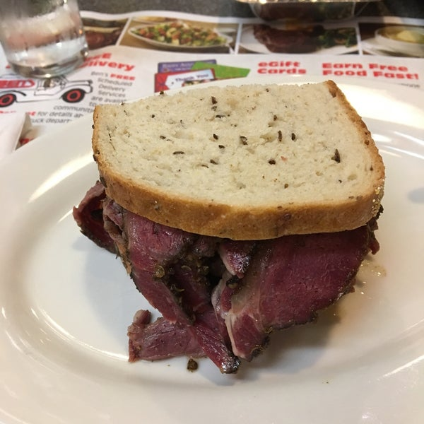 One of my favorites restaurants in NYC. The pastrami sandwich is so good and delicious! You should try the matza ball soup and half of the sandwich, a great combination!