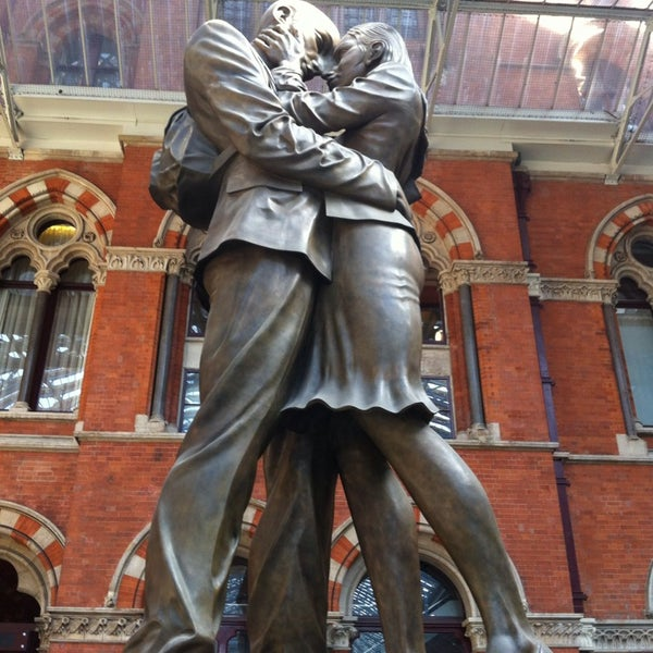 Photo taken at London St Pancras International Railway Station (STP) by Burcin G. on 6/8/2013