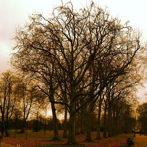 Photo taken at Kensington Gardens by Alex B. on 11/21/2012