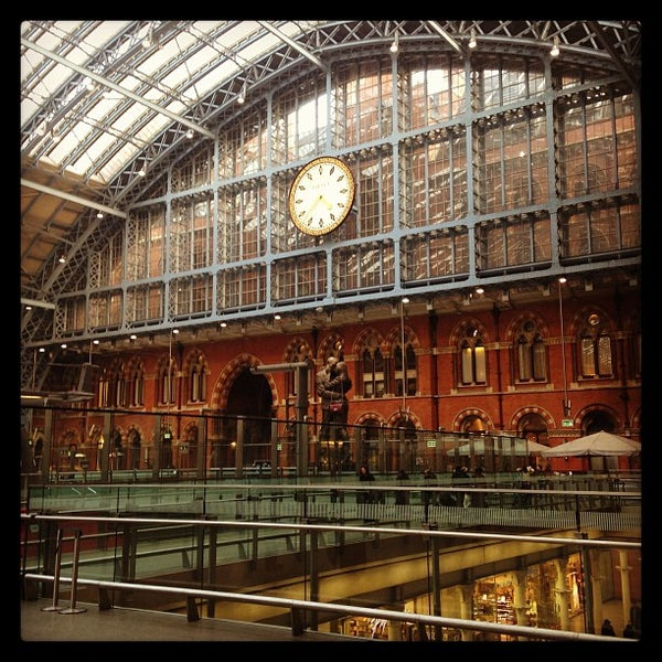 Photo taken at London St Pancras International Railway Station (STP) by James Y. on 2/18/2013
