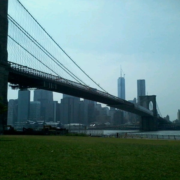 Photo taken at Brooklyn Bridge Park by Lore F. on 6/27/2013