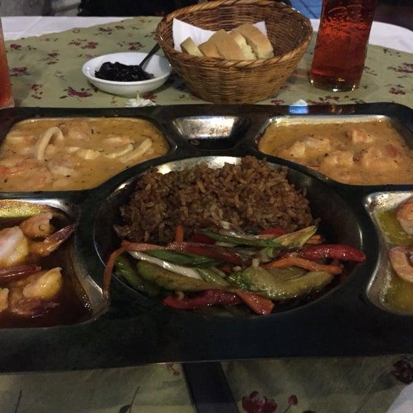 Camarones Olano   Salsa brigitte, Ajillo, pasión, camarones Cartagena en salsa mariscos , con arroz coco y verduras