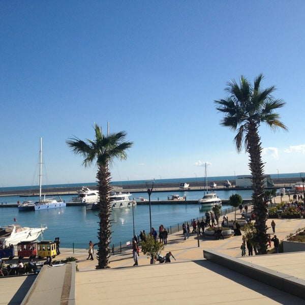 Photo taken at Mersin Marina by ♡Bilge Ö. on 3/17/2013