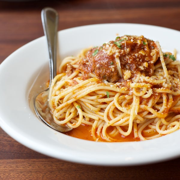 Spaghetti and meatballs looked pretty tasty.