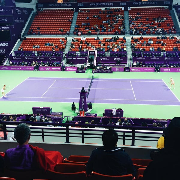 Photo taken at Qatar Tennis Federation by Kimberly D. on 2/22/2016