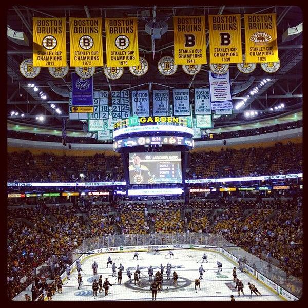 Td Garden Hockey Arena In Downtown Boston