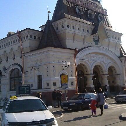Photo taken at Железнодорожный вокзал Владивостока / Vladivostok Railway Station by Елизавета Х. on 11/29/2012