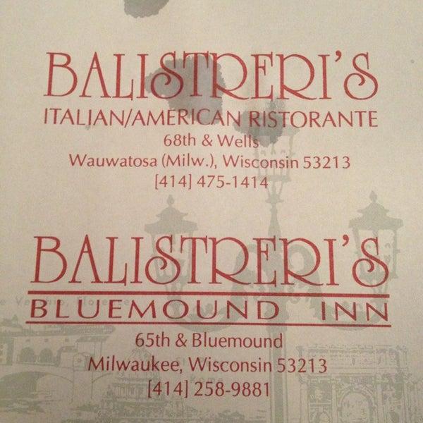 Photo taken at Balistreri's Italian American Ristorante by Tony T. on 3/2/2013