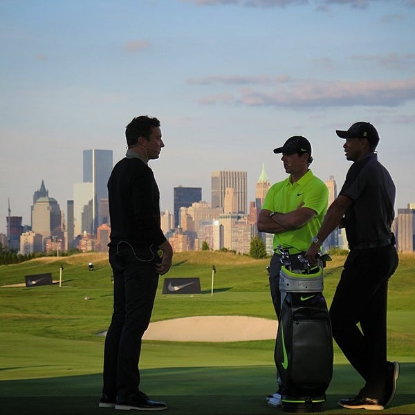Photo taken at Liberty National Golf Course by Justin S. on 8/19/2014
