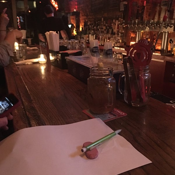 Photo taken at Double Wide Bar & Southern Kitchen by Sarah S. on 4/1/2016