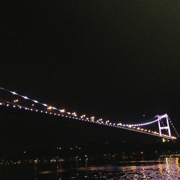 Photo taken at Fatih Sultan Mehmet Bridge by Oksal E. on 2/8/2013