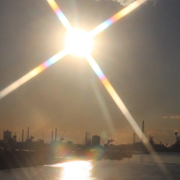 Photo taken at 中の島大橋 by Yutaka I. on 12/29/2015