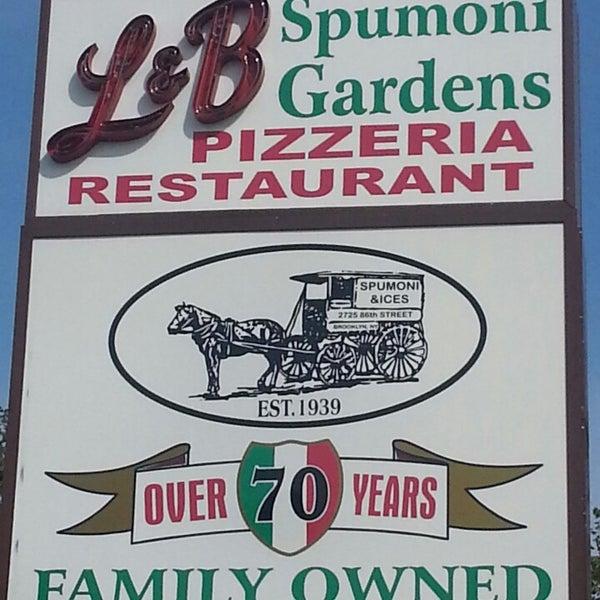 Photo taken at L&B Spumoni Gardens by Carla N. on 6/22/2013
