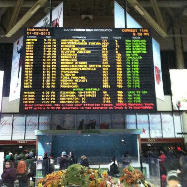 Photo taken at South Station Terminal (MBTA / Amtrak) by Michael G. on 1/2/2013